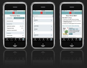 wmba iOS app user interface